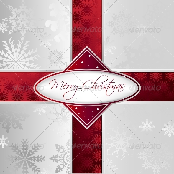 GraphicRiver Silver Christmas Background 5993834