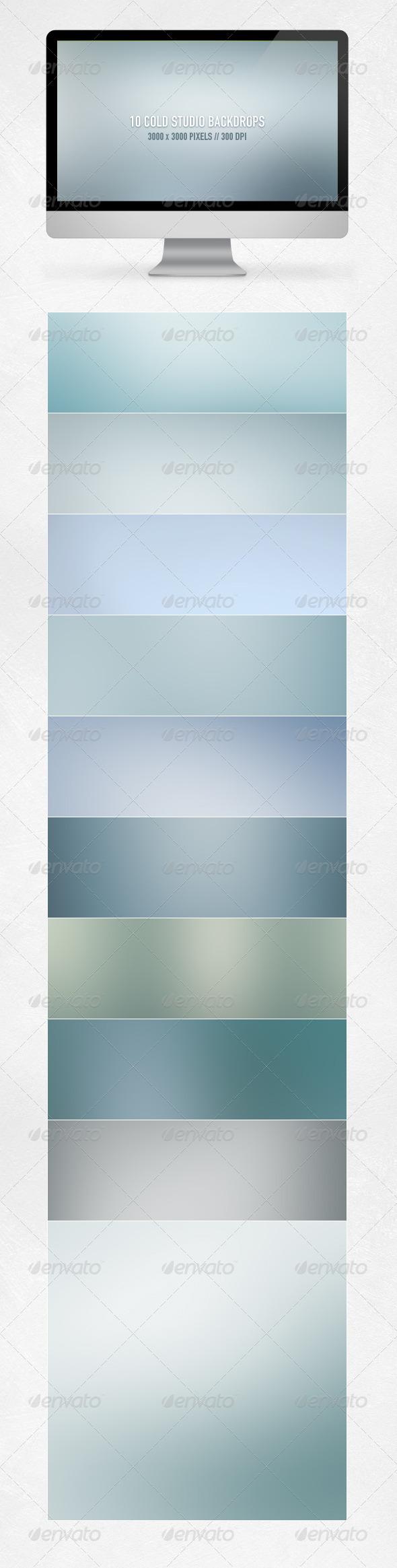 GraphicRiver Cold Studio Backdrops 5994093