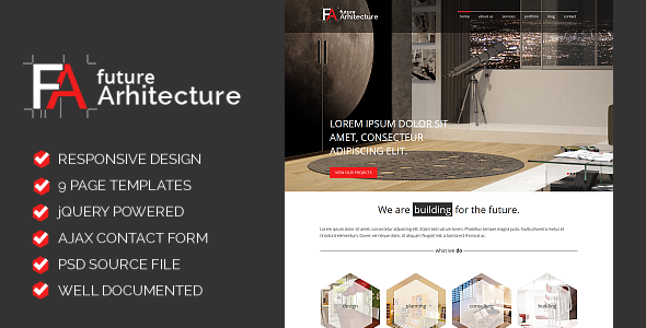 ThemeForest Future Architecture Responsive HTML Template 5994221