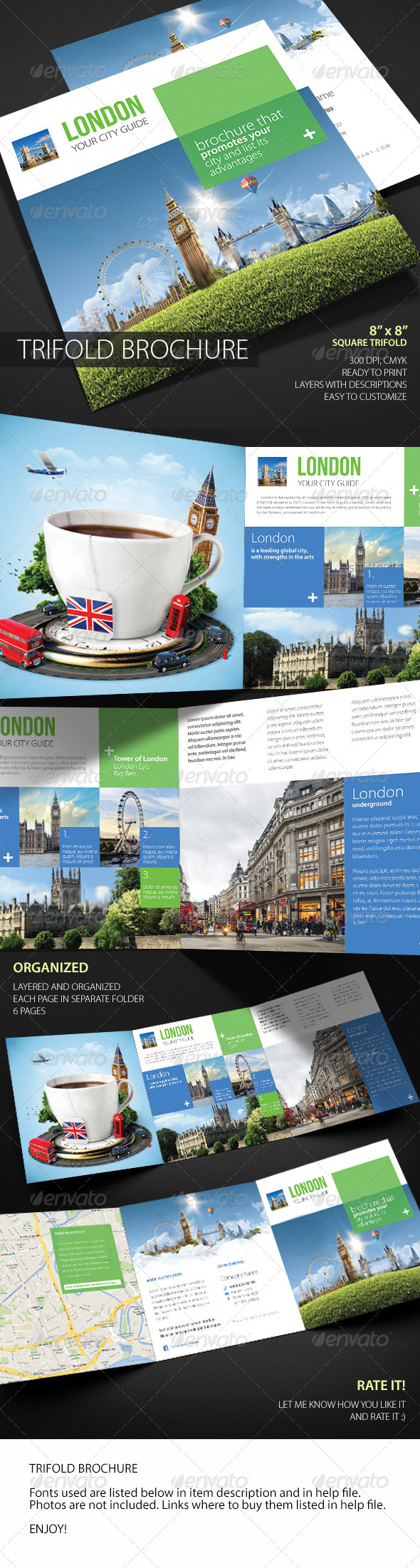 GraphicRiver Square Trifold Brochure 5971845