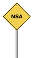 Warning Sign NSA - PhotoDune Item for Sale