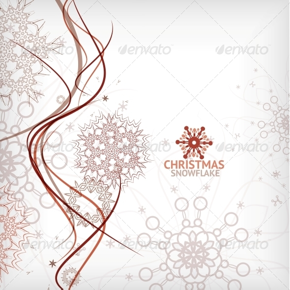 GraphicRiver Vintage Christmas Card with Decorative Snowflakes 5994492