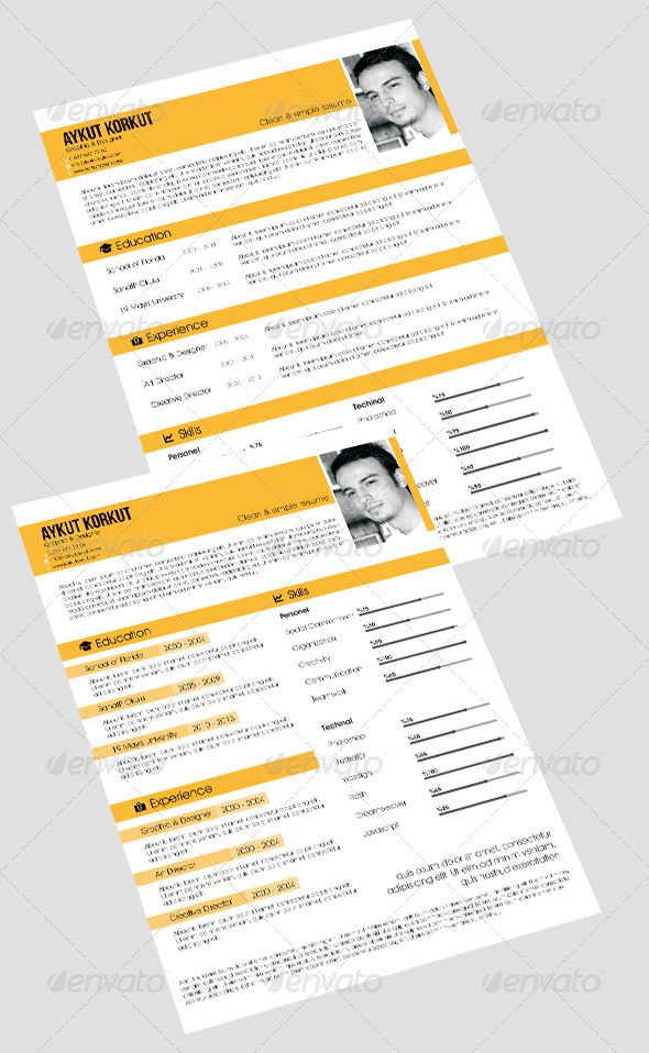 GraphicRiver Resume Template v1 5965809