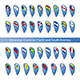 Flag Pins for North and South American Countries - GraphicRiver Item for Sale