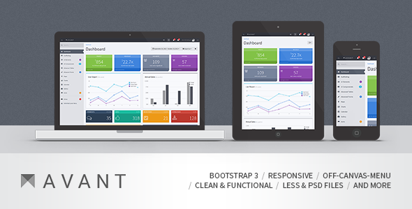 ThemeForest Avant Clean and Responsive Bootstrap 3 Admin 5961888
