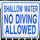 No Diving sign - PhotoDune Item for Sale