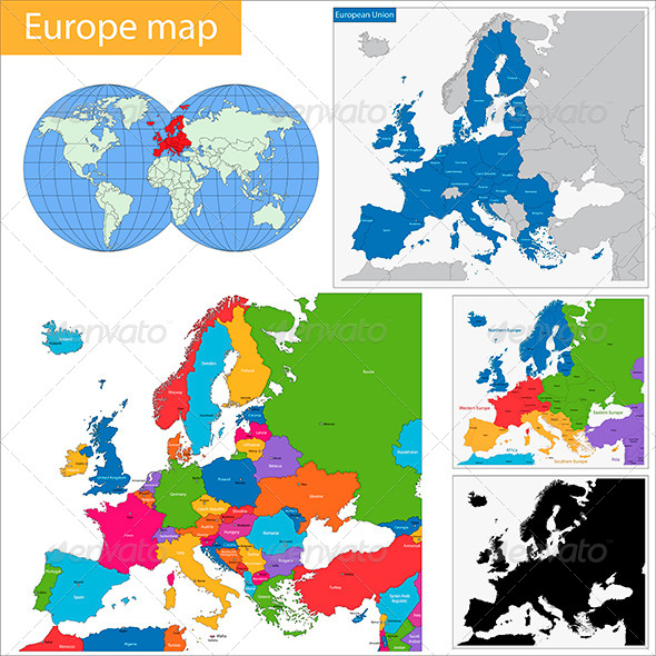 GraphicRiver Europe Map 5997070