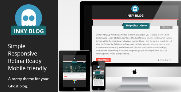 ThemeForest Inky Blog Responsive Ghost Theme 5964385