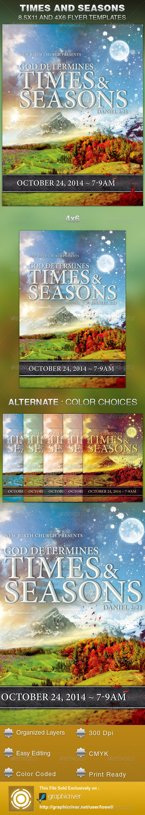 GraphicRiver God Determines Times And Seasons Church Flyer 5997935