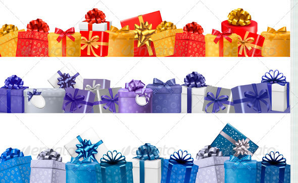 GraphicRiver Set of Shopping Banners with Gift Colorful Boxes 5997963