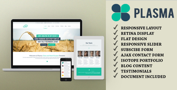 Plasma - One Page Multi-Purpose Wordpress Theme - Portfolio Creative