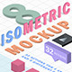 3D Isometric Mockup Action -  Isometry 3D Actions - GraphicRiver Item for Sale