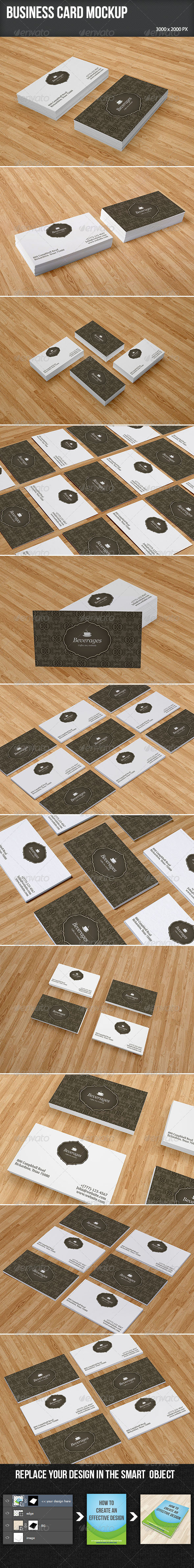 GraphicRiver Business Card Mockup Set 5998891