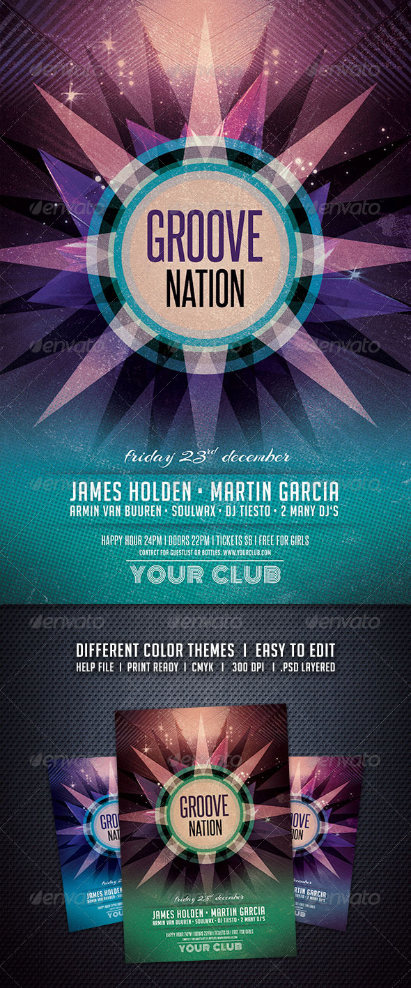 GraphicRiver Groove Nation Flyer 5999176