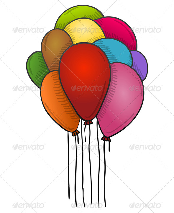 GraphicRiver Floating Balloons 5999561
