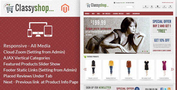 ClassiShop Magento Template - Fashion Magento