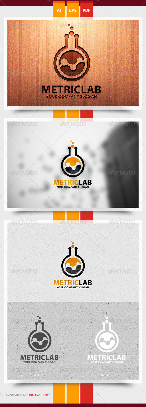 GraphicRiver Metric Lab Logo Template 5999779