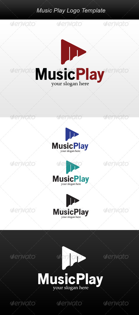 GraphicRiver Music Play Logo 5999788