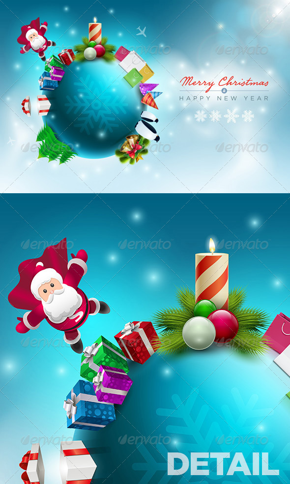GraphicRiver Santa Claus Christmas World 5999819
