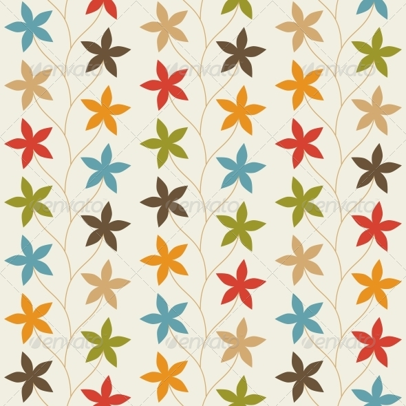 GraphicRiver Floral Vintage Seamless Pattern 5999999
