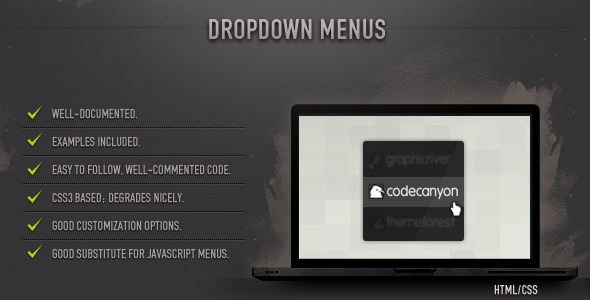 Dropdown Menus (CSS) - CodeCanyon Item for Sale