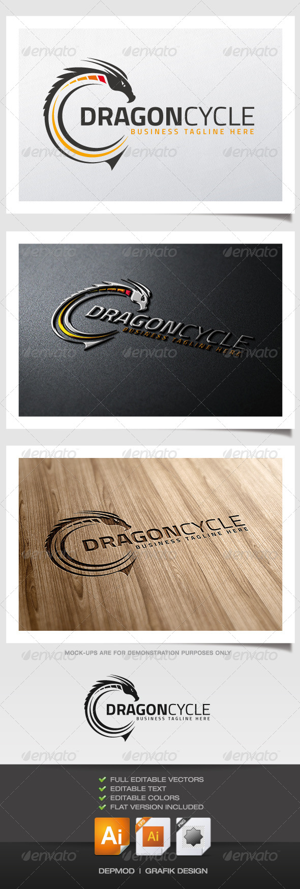 GraphicRiver Dragon Cycle Logo 6000228