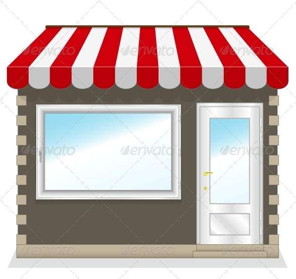 GraphicRiver Shop Icon with Red Awnings 6000305