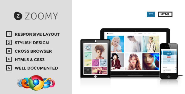 ThemeForest Zoomy Professional Photography HTML Theme 6000406
