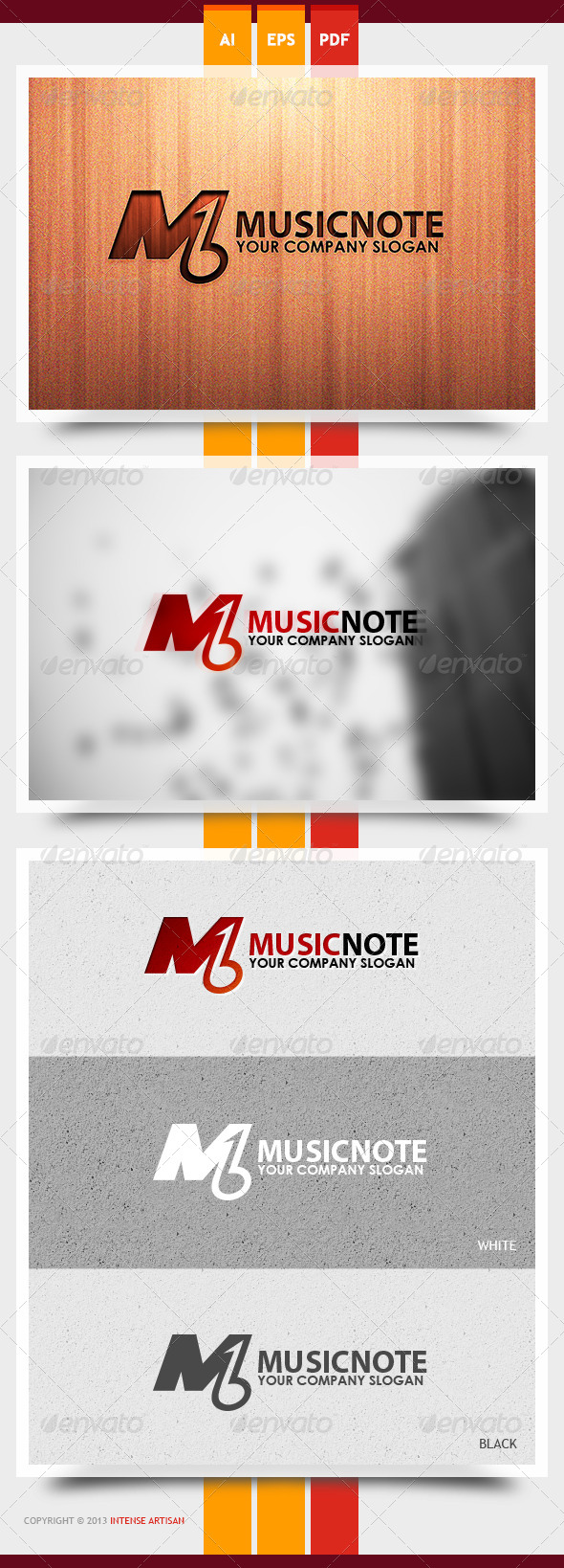 GraphicRiver Music Note Logo Template 6000533