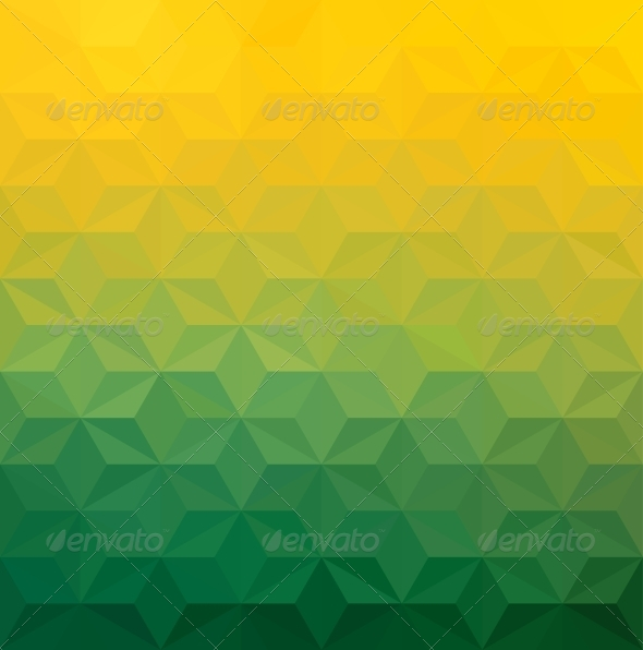GraphicRiver Abstract Green Yellow Triangle Background 6000593