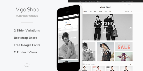 Vigo Shop - Responsive eCommerce Template - Corporate Site Templates