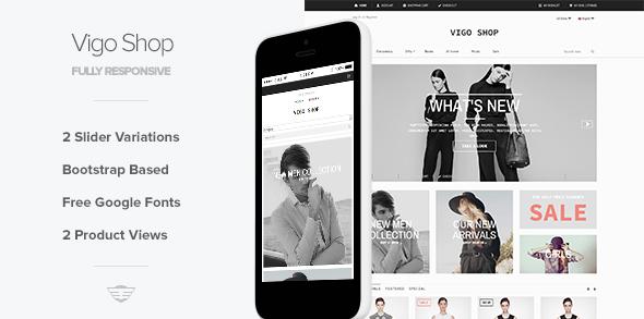 Vigo Shop Responsive Ecommerce Template Themes Code Templates