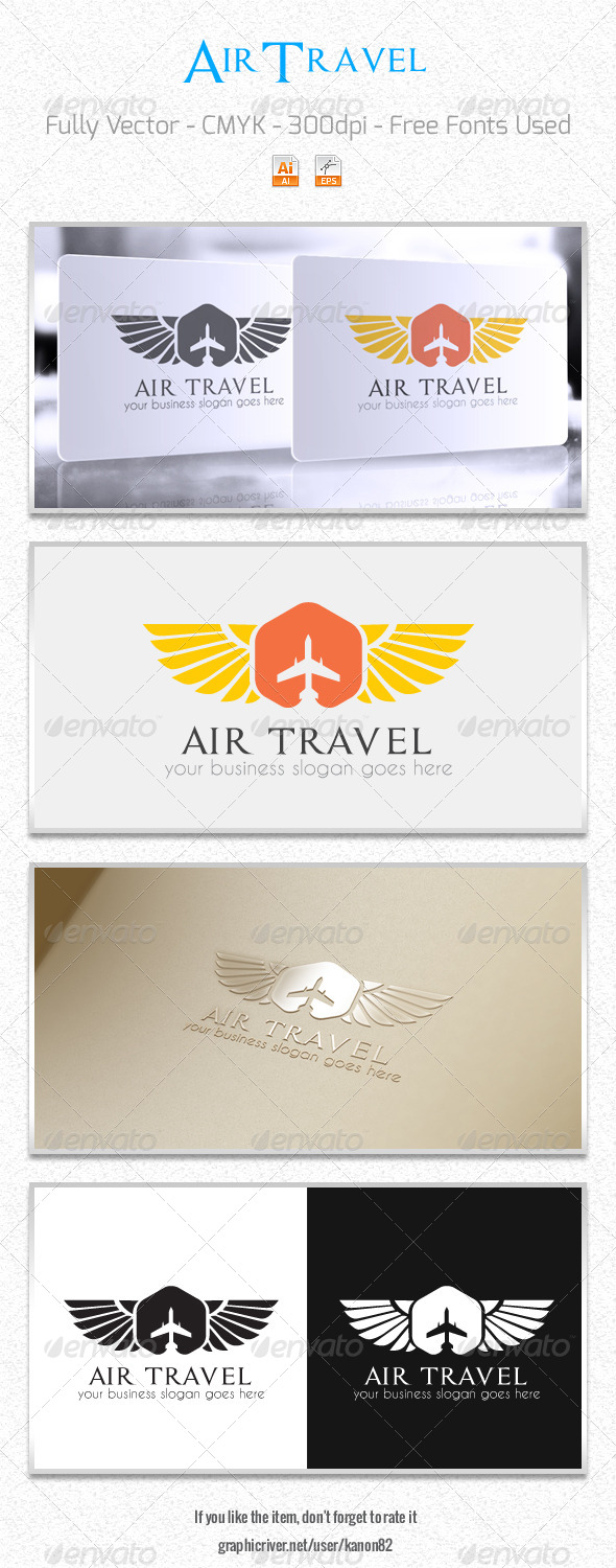 GraphicRiver Air Travel Logo 6000607