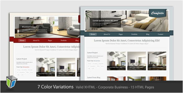 Comforta - Corporate Business HTML Template