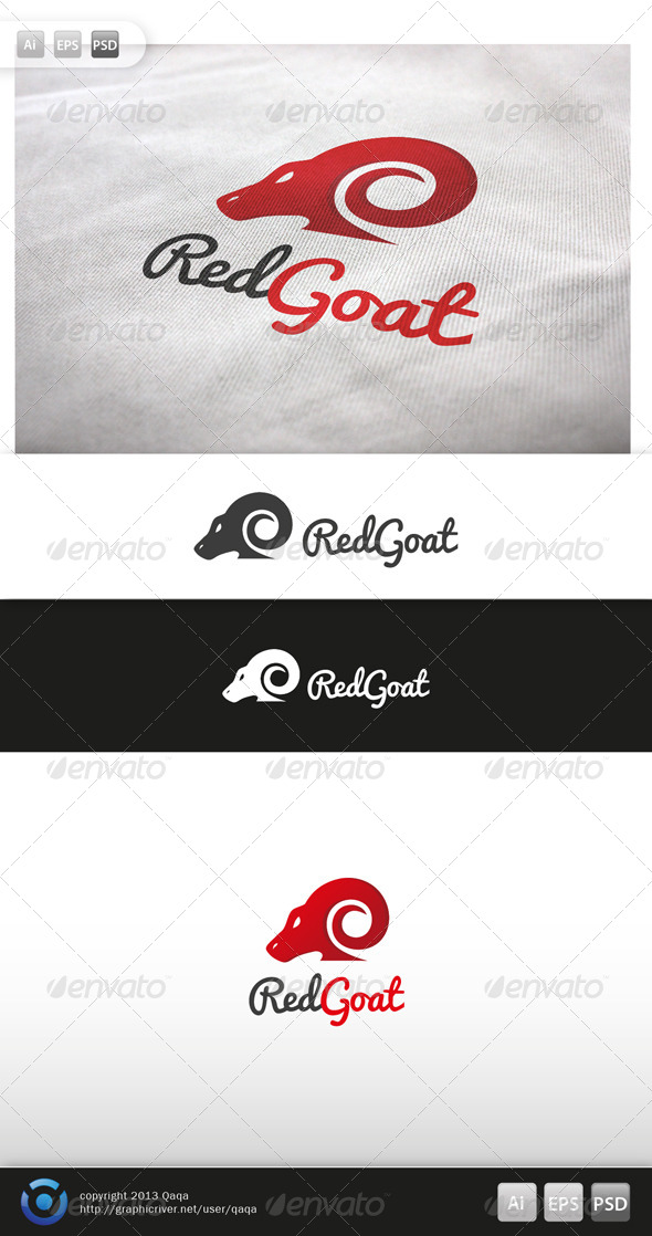 GraphicRiver Red Goat Logo 6000940