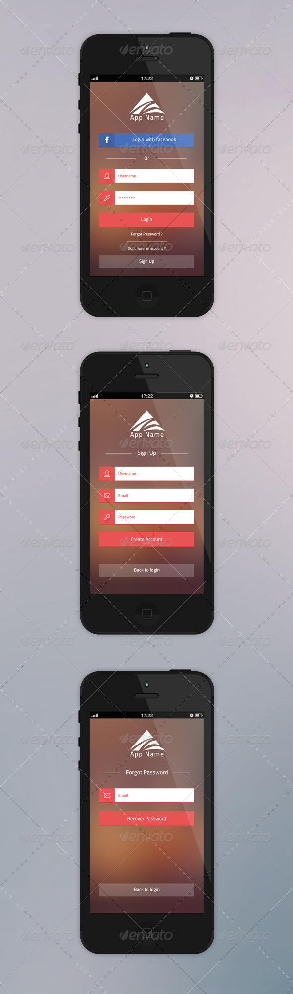 GraphicRiver Flati App Login 5968035