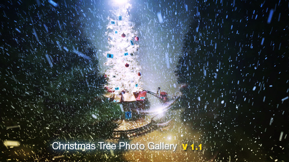 Project for After Effects - Christmas Tree Photo Gallery
