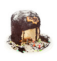 Panettone shaped nativity scene on white background - PhotoDune Item for Sale