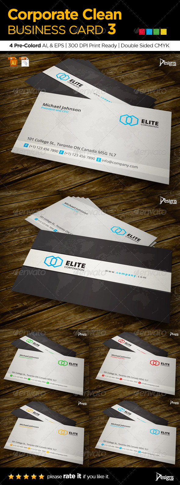 GraphicRiver Corporate Clean Business Card 3 6001859