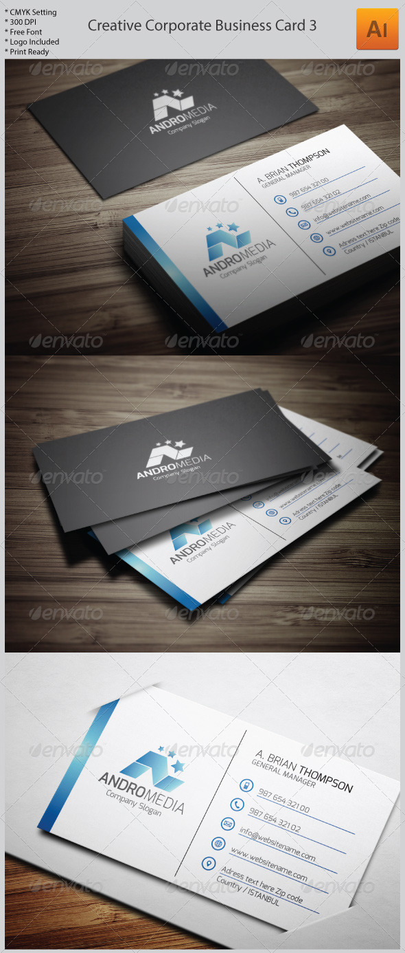 GraphicRiver Creative Corporate Business Card 3 5982156