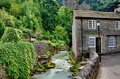 River and cottage in Castleton,Derbyshire - PhotoDune Item for Sale