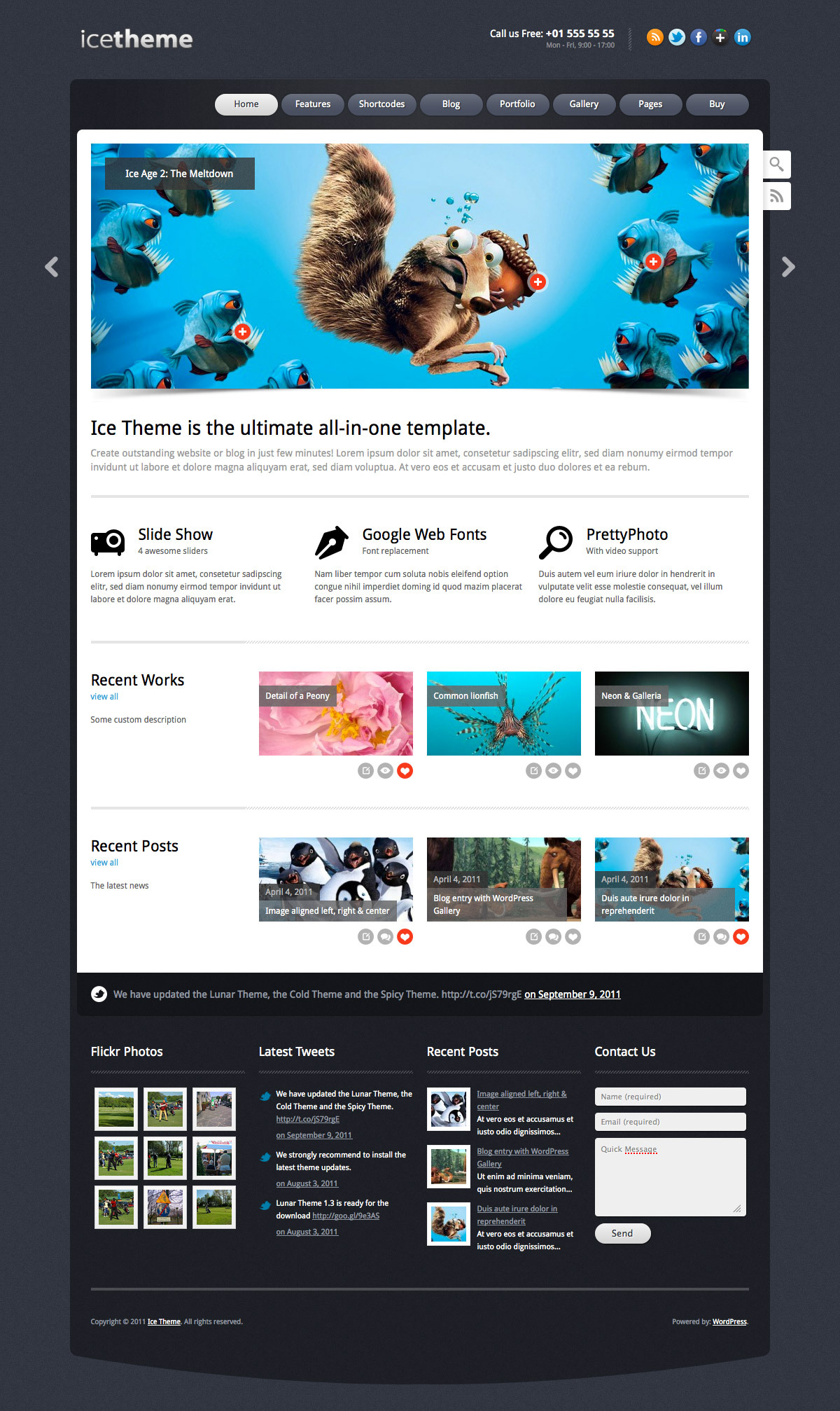 Ice Theme - Powerful WordPress Theme - Preview of Style 1