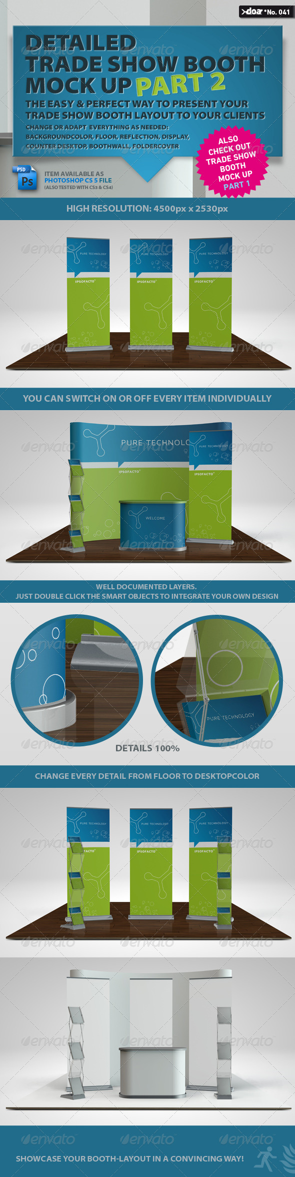 Trade Show Booth Mock Up PART 2 GraphicRiver - Graphics -  Product Mock-Ups 628409