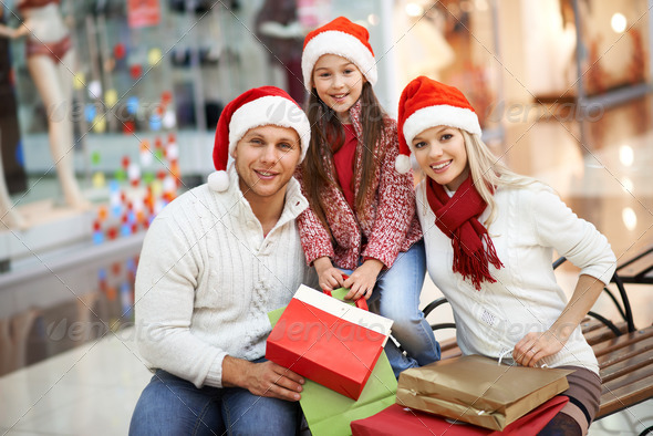 Christmas shopping - Stock Photo - Images