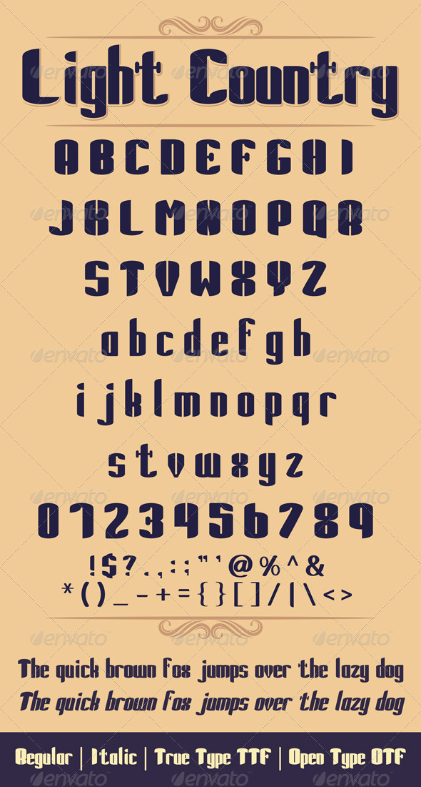GraphicRiver Light Country Font 5978570