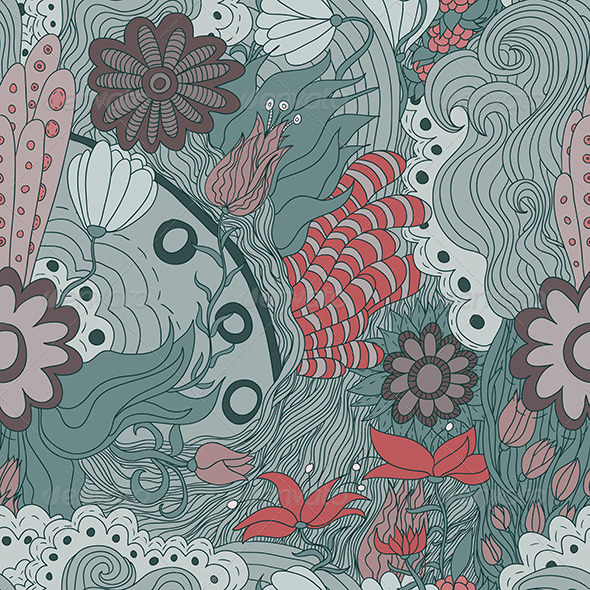 GraphicRiver Seamless Flower Pattern 6005102