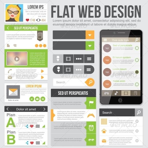 GraphicRiver Flat Web Design 6006418