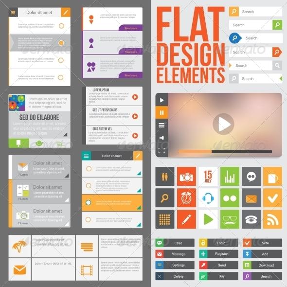 GraphicRiver Flat Web Design 6006473