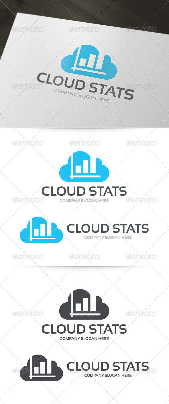 GraphicRiver Cloud Stats Logo 6007032