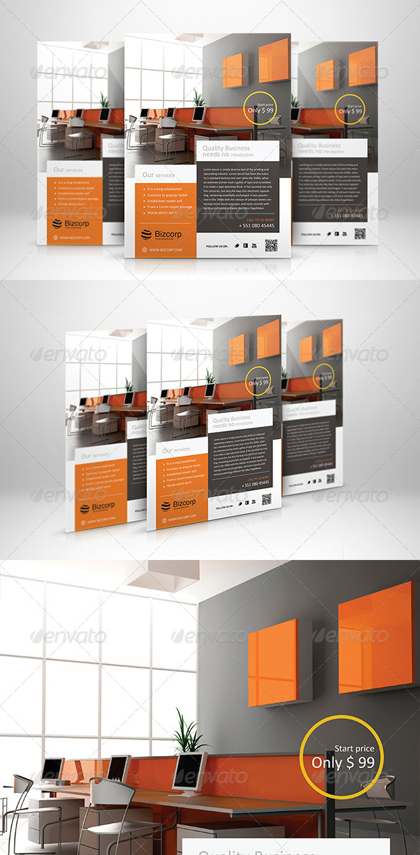 GraphicRiver Corporate Flyer Template 002 5988925